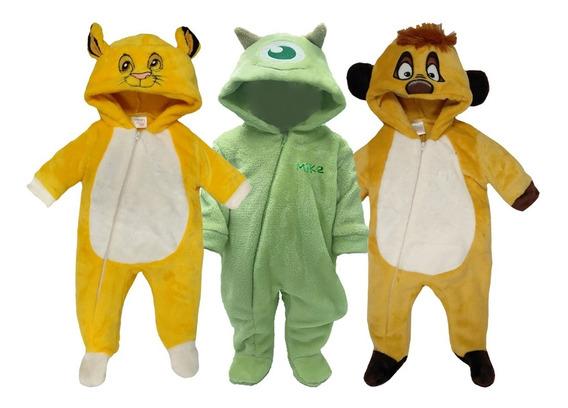 Kit 3 Mamelucos Disney Simba, Mike, Timon A Precio De 2