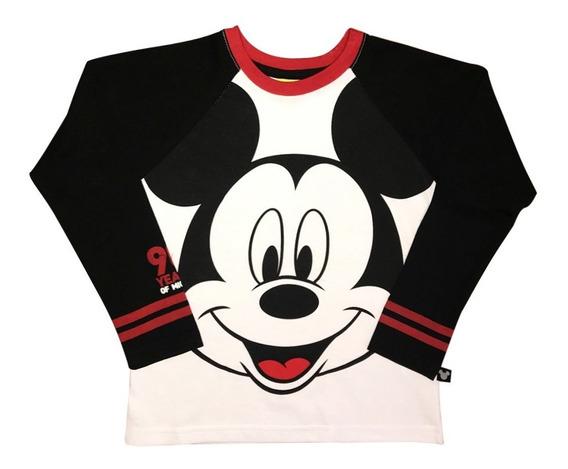 Playera Mickey Mouse Dividida De Disney Oficial Para Niño