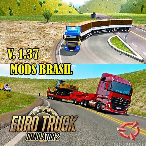 Euro Truck Simulator 2 Mod Brasil 1.37