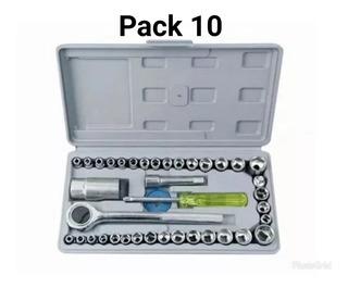 Pack 10 Set Juego Dados 40 Piezas Chicharra Auto Motos