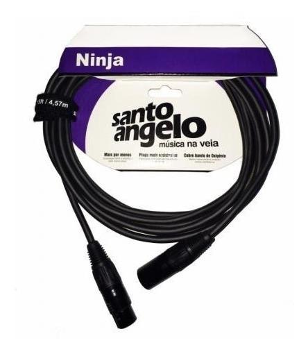 Cabo Microfone Xlr Santo Angelo Ninja 7.6m Balanceado Lw B