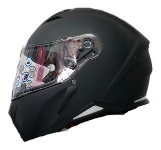 Casco Shiro Sh-890 Monocolor Negro Mate Mh&s