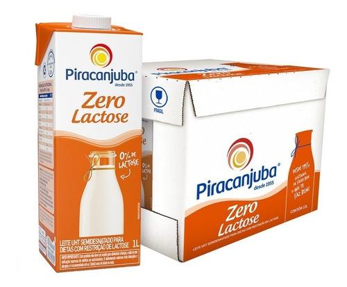 Leite Semidesnatado Piracanjuba Zero Lactose 12 Unid.1l