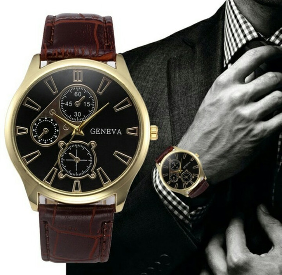 Relógios Quartz Padrao Luxo Pulseira De Em Couro