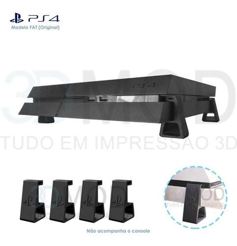 Imagem 1 de 1 de Pezinho Ps4 Playstation Fat Horizontal Suporte De Mesa