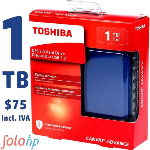 Disco Duro Externo 1tb Toshiba Advance Gartía 2años 2colores