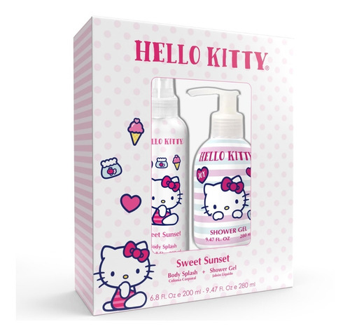 Set Perfume Hello Kitty Sweet Sunset 200ml + Shower Gel