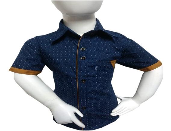 Camisa Niño Casual Vestir Manga Corta Varios Modelos