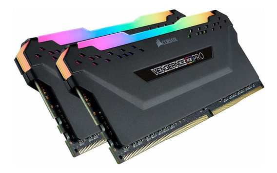 Memoria Ram 32gb Corsair Cmw32gx4m2a2666c16 Vengeance Rgb Pro (2x16gb) Ddr4 2666 (pc4-21300) C16 Black