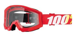 Goggles Lentes Mx 100% Strata Motocross Enduro Rzr