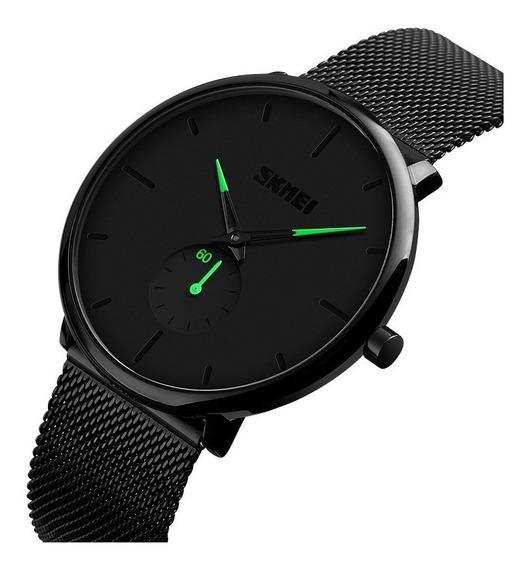 Reloj Skmei 9185 Hombre Elegante Acero Inoxidable 4 Colores
