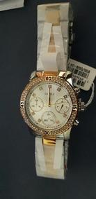 Relógio Feminino Guess Original Prata E Dourado (sem Caixa)