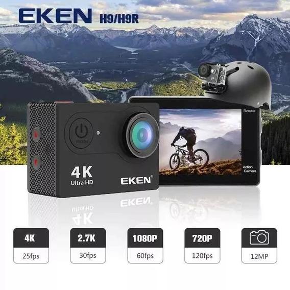 Câmera De Ação Eken H9r Original Vários Acessórios Barato