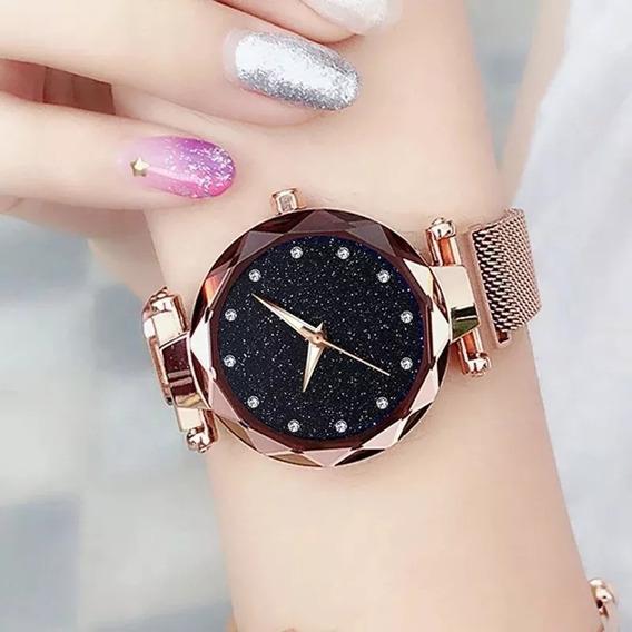 Relógio Estrelado Pulseira Magnética Consult Cor Disponível