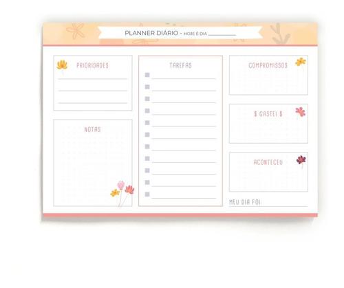Planner Diário A5 - Flores