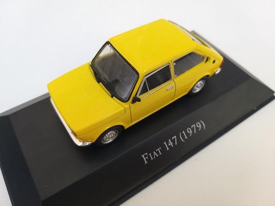 Miniatura Fiat 147 Amarelo 1/43 Brasil Inesqueciveis