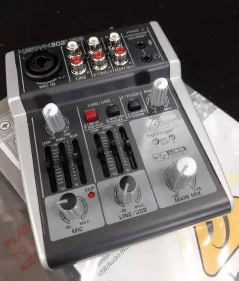 Mesa De Som Behringer Xenyx 302 Usb Lc Áudio