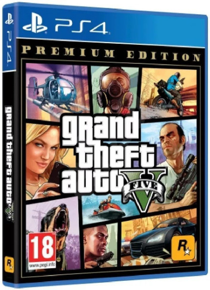 Grand Theft Auto V (gta 5) Premium Edition Ps4 Midia Fisica