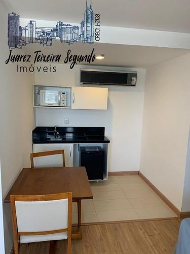 Flat Mobiliado E Decorado No Caminho Das Árvores Quarto E Sala Com 34m² No Salvador Business & Flat! - 07191 - 68385883