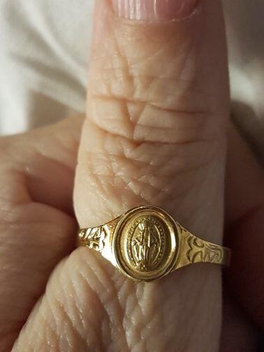 Anel Ouro Religioso N.sra Das Gr. 1gr Medida 17 Ouro Amarelo