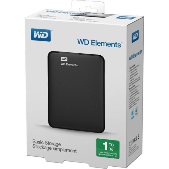 Hd Externo 1tb Usb 3.0 Portatil Wd Elements