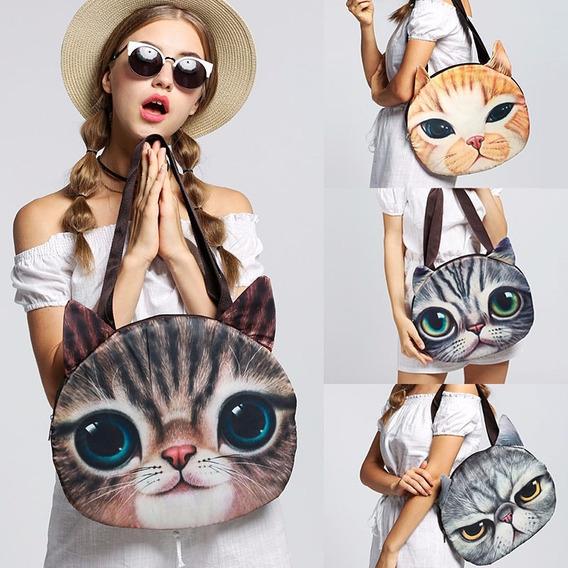 Bolsa Dama Mujer Gato Moda Estilo Animal