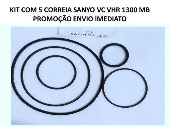 Kit Correia Vhs Sanyo Vhr 1300 Mb 5 Peças No Kit