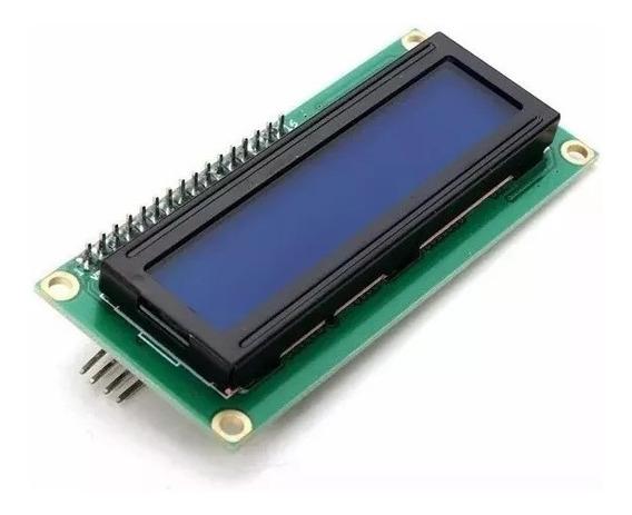 10x Display Lcd 16x2 1602 Fundo Azul Com Modulo I2c