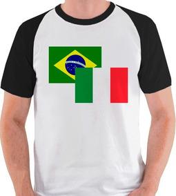 Camiseta Bandeira Itália Viagem Camisa Blusa Raglan