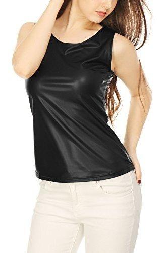 Camiseta Sin Mangas Asimetrica Allegra K Womens U Neck Ela