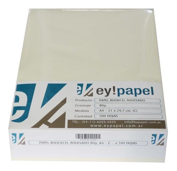 Papel Bookcel Ahuesado De 80 Grs. A4 (fibra Corta) X 500 H.