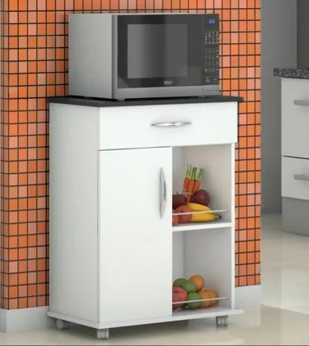 Imagem 1 de 3 de Armário Com Uma Porta P/ Cozinha Microondas E Bebedouro Mult