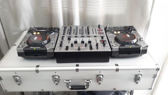 Kit Dj Cdj 400 Pioneer Mixer Behringer 700 Case E Brinde