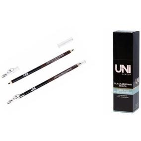Box C/ 24 Lápis Preto E Marrom C/ Apontador Uni Makeup