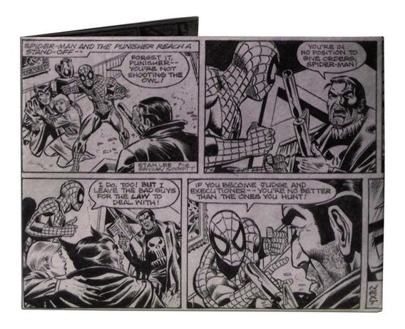 Billetera Papel Irrompible Impermeable Tyvek Spiderman Lerit
