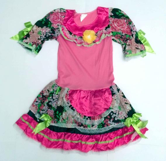 Vestido Caipira Florido Maria Bonita Rendas Fitas Arraiá
