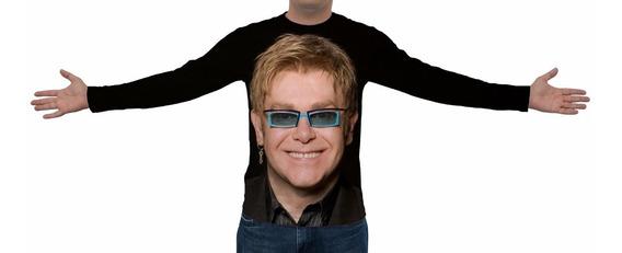 Camiseta Elton John Face - Manga Longa
