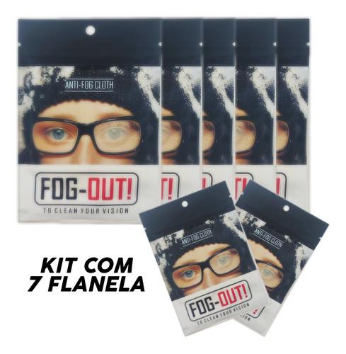 Imagem 1 de 5 de Kit 7 Flanelas Antiembaçante Óculos, Viseira Atacado