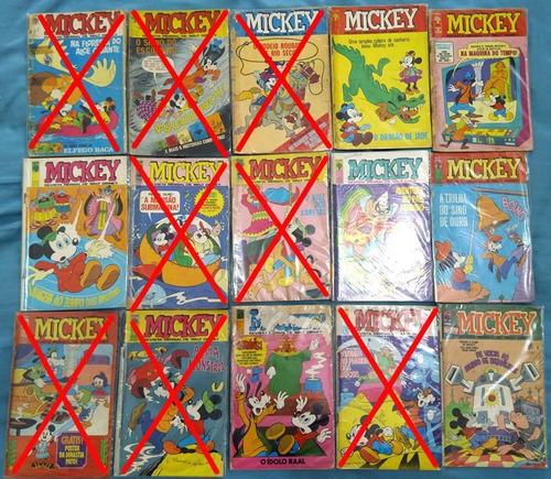 Gibi Mickey Antigo! Vários Números! R$ 7,00 Cada Uma!