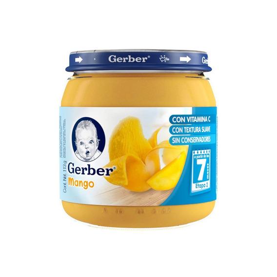 Papilla Gerber Etapa 2 Sabor Mango Frasco 113g