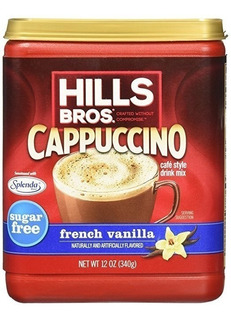 Café Cappuccino, Sin Azúcar Vainilla Francesa Hills Bros