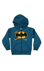 Blusa De Moletom Batman Com Ziper
