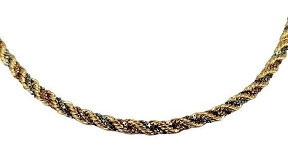 Colar Cordão Trancilim Especial 45cm Ouro 18k - 1992
