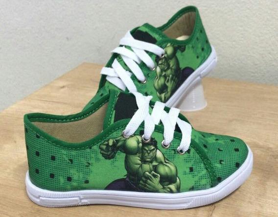 Tênis Infantil Personagem Hulk Com Cadarço