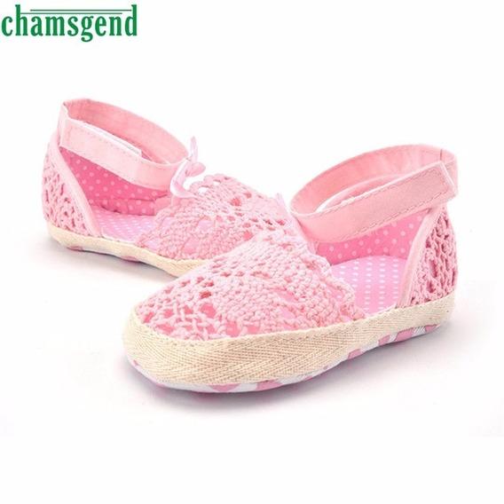 Sapato Renda Menina Rosa