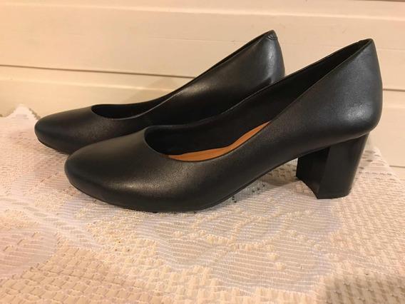 Zapatos De Mujer Via Uno Numero 35 Con Taco Nuevos Negro