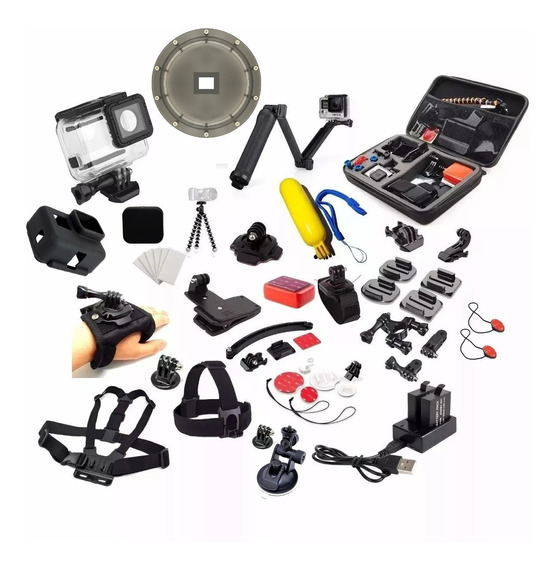 Kit Completo Gopro Hero 5 6 7 Black Dome Caixa Estanque