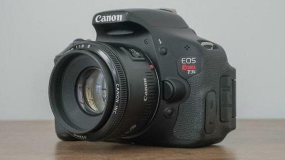 Canon T3i + Lente 50mm 1.8. 12x Sem Juros Frete Grátis