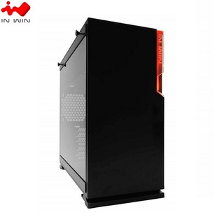 Case In Win 101 S/ Fuente | Negro | 1 Panel Vidrio |led-red
