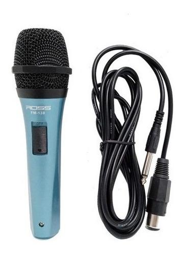 Micrófono Plástico Vocal Dinámico Supercardioide Ross Fm-138